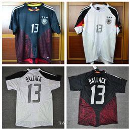 Euro cup 2004 Germany Retro Soccer Jersey 3 star Klose Football Shirts 04  Ballack Uniforms Kit Football Shirts 737ad634e