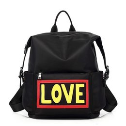 Chinese  2colors choose devil's name waterproof Oxford fabric love fashion backpacks school bags designer backpack shouler bag for travel and school manufacturers
