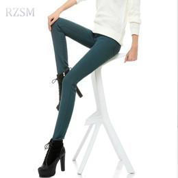 Outono Inverno além de veludo leggings grossas das mulheres plus size lápis  calças de lã quente calças femininas calças compridas calças de brim  elásticas bfe59ae4e6b6a