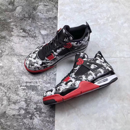 Wholesale WITH BOX New designer s GS Tattoo Fire Red High OG Basketball Shoes Air Cushion Graffiti Sneakers Men Sports mens sneaker Trainers