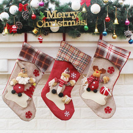 Kids Craft Making UK - Christmas Stockings Hand Made Crafts Children Candy Gift Santa Bag Claus Snowman Deer Stocking Socks Xmas Tree Decoration toy gift #16 17 18