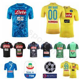 jersey naples 2019 - SSC Naples FC Soccer 9 VERDI Jersey 1819 Men 33 ALBIOL 31 GHOULAM 26 KOULIBALY 99 MILIK Football Shirt Kits Black Blue Y