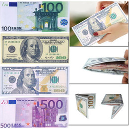 Euro notEs online shopping - Chic Unisex Mens Womens Currency Notes Pattern Pound Dollar Euro Purse Wallets Fashion