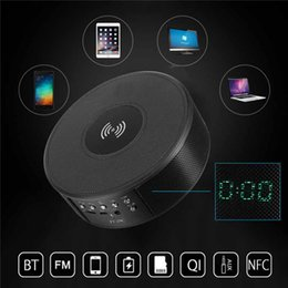 $enCountryForm.capitalKeyWord NZ - Qi NFC Bluetooth Speaker Portable Wireless Radio Loudspeaker Qi Wireless Phone Charger Charging Pad Docking with Alarm Clock column speaker