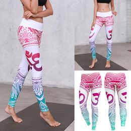 $enCountryForm.capitalKeyWord NZ - Women's Bohemian Style Digital Print Leggings Sports Slimming Full-Length Regular Size Yoga Pants