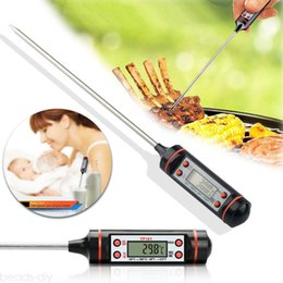 Portable thermometers online shopping - Black Electronic Food Thermometer Digital Food Probe BBQ Food Grade Sensor Meat Thermometer Portable Cooking Kitchen Tools AAA733