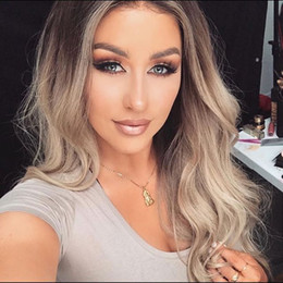 cheap ombre full lace wigs Canada - Best quality 10a cheap beauty 100% unprocessed virgin remy human baby hair long ombre color big curly full lace wig cheap for women
