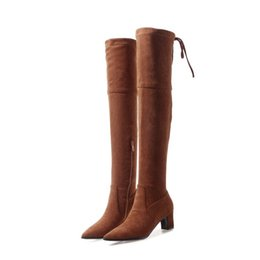 e01a3ce270222 Fashion Hot Sale Womens Zip Lace-Up Thigh-High Boots Ladies Sexy Over The Knee  Boots Shoes Size B1042