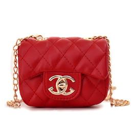 CheCkered baCkpaCks online shopping - INS new fashion children s tide bag letter Messenger bag girl cute shoulder rhombic red square bag