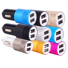 Iphone double adapter online shopping - 2 usb Car Charger For iPhone Plus Double USB Port Car Chargers LED Car Charger Dual USB Port Adapter for samsung android phone gps