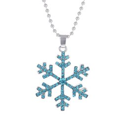 China Snowflake Crystal Necklace Christmas Gifts America 3D Anime Movie The Snow Queen Statement Necklace Snowflake Pendant Necklace cheap movie party suppliers