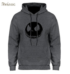 skull hoodies wholesale 2019 - The Nightmare Before Christmas Halloween Pumpkin King Skull Hoodie Streetwear Hip Hop Hooded Hoody Mens Hoodies Sweatshi