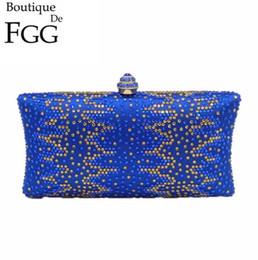 high end wedding dresses 2019 - Factory own brand handbags high-end handmade diamond evening bag exquisite elegant rhinestones women chain bag banquet w