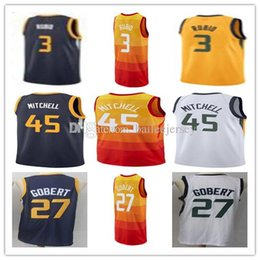 2018 Men s City edition yellow Jersey 2 Joe Ingles 27 Rudy Gobert Jersey 45  Donovan Mitchell 3 Ricky Rubio Basketball Jerseys 48b965723