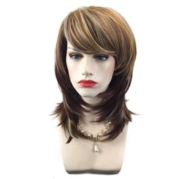 $enCountryForm.capitalKeyWord UK - Synthetic Hair Wigs for Women Natural Style Fashion Ladies Wig Long Wavy Daily Party Cosplay Wig with Bangs Ombre Hair African American Wigs