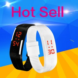 Mens rubber touch led watch online shopping - Fashion Sport LED Watches men Candy Color Silicone Rubber Touch Screen Child Digital Mens Watches Waterproof Bracelet Wristwatch