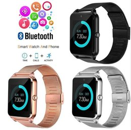 AlArm sim online shopping - Z60 Bluetooth Smart Watch Android Smartwatch Calculator Calendar Alarm Support SIM Card Touch Screen For IOS Android
