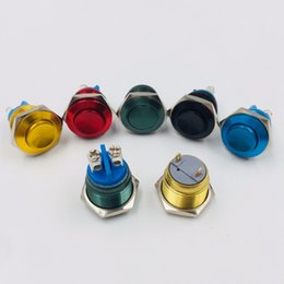 China 16mm Oxidation Color Screw Pin Solder Feet High Head Waterproof Metal Push Button Switch Momentary Reset Car PC Computer Power cheap waterproof momentary push button switch suppliers