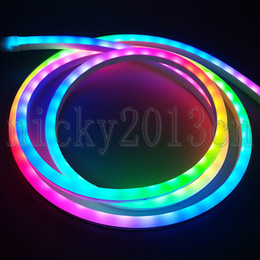 Rgb flex neon lighting online shopping - 2M V SK6802 WS2812B RGB LED Pixel Neon Tube Flex Strip Light Silica Gel IP68 Waterproof Magic Color Change Addressable Individual