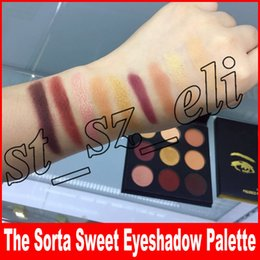 Eyshadow Palette Canada - Eye Makeup The Sorta Sweet Pressed Powder Palette 9 Colors Eye Shadows Natural Matte Eyshadow Palette