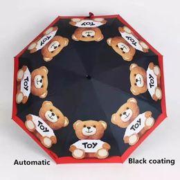 $enCountryForm.capitalKeyWord Canada - New Full Automatic Black coating Umbrella Rain Women Men 3 Folding Light and Durable 360g 8K Strong Umbrellas Kids Rainy Sunny