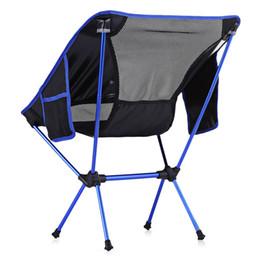 Portable ultra-léger chaise pliante robuste pour les activités de plein air de pique-nique 600D Oxford tissu de pêche en aluminium Livraison gratuite VB