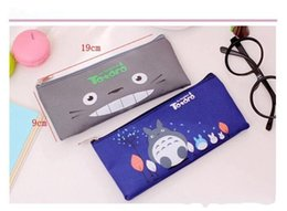 ToToro children bag online shopping - New Student Cartoon Miyazaki Totoro Pencil Bags children Oxford cloth Stationery bags Kids cute pencil bags cm