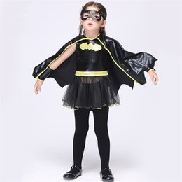 Kids Carnival Costumes Girls Canada - 2018 Halloween Cosplay Carnival Dress for Girls Kids Pirate Costume Princess Bat Dress Cloth Tops Paired Character Vestido Cloth