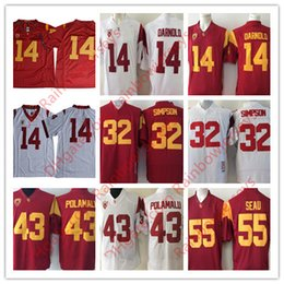 d8b132fe5 ... coupon code for usc trojans college football jerseys 14 sam darnold 43 troy  polamalu 32 o.j. ...