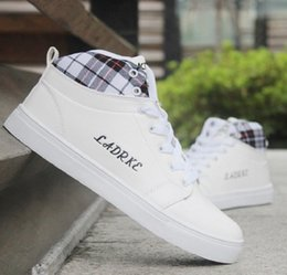 flat shoes korean styles 2018 - British style leisure sports shoes ,wholesale men high Korean male students in autumn and winter shoes with top quality
