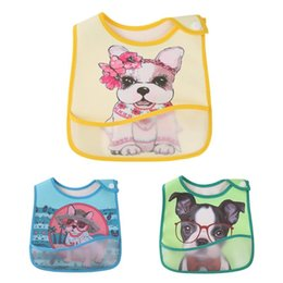 Towels For Dogs NZ - Baby Bibs Cute Cartoon Dog Pattern Toddler Baby Waterproof Saliva Towel Bibs EVA Waterproof Lunch For Boys Girl Feed