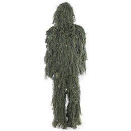 China Hunting Woodland Camo Sniper Ghillie Suit Set Camouflage Suits Tactical Camouflage Clothing Hunting Clothes Hunting Accessories supplier full hunting camouflage clothing suppliers
