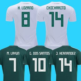 0f18446abd5 2018 mexico away white soccer jerseys LOZANO football shirt 2018 world cup  CARLOS GUARDADO G.DOS SANTOS mexico Camisetas CHICHARITO maillot