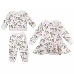 Discount dress girl suit long sleeve - Unicorn Shirts Pants Dress Suits Boys Girls Clothing Sets Pure Cotton Autumn Winter Long Sleeve Shirts Short Sleeve Dres
