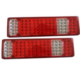 trailer lights 2019 - 1 Pair Car LED Rear Tail Lights Stop Brake Taillight Reverse Lamp for STR 24V Trailer Caravan Ute Truck cheap trailer li