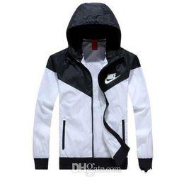 Chinese  Brand designer - Men Spring Autumn Thin Jacket Coat,Men and women sports windbreaker jacket explosion Black models Windrunner jacket couple manufacturers