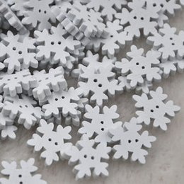 Apparel Sewing & Fabric Objective 50pcs Christmas Holiday Wooden Collection Snowflakes Buttons Snowflakes Embellishments 18mm Creative Decoration