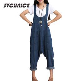 e74662a706e Spring Autumn Denim Jumpsuits Women Harem Jumpsuit Pants Ladies Loose Jeans  Rompers Female Gallus Suspenders Big Size