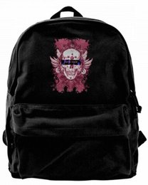 $enCountryForm.capitalKeyWord Canada - Punk style big skull face print Canvas Best Backpack Unique Camper Backpack For Men & Women Teens College Travel Daypack