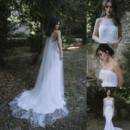 $enCountryForm.capitalKeyWord NZ - Lihi Hod 2019 Wedding Dresses Lace Strapless Top Quality Custom Made Satin Mermaid Wedding Dress With Beaded Sweep Train Wrap Bridal Gowns