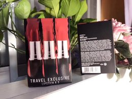 $enCountryForm.capitalKeyWord Australia - 3pcs set Makeup Lipstick Travel Exclusive Lipstick 3 colors Chili  Ruby Woo  Lady Danger Retro Matte Lipsticks