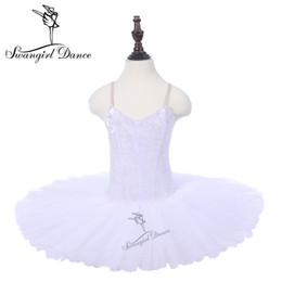 red white tutus Australia - White Swan Ballet Tutu Pancake Sleeping Beauty Performance Dance Stage Tutu Costumes Dress Dance Loetards For Girls PPL18044H