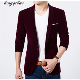 Discount young clothes - Spring and autumn men 's new casual suit jacket velveteen young suit Slim men' s clothing TB7117