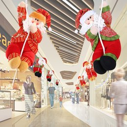 christmas home tree decorations shopping malls santa claus smowman new year hanging pendant xmas decoration ornamentssupplies - Mall Christmas Decorations