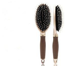 $enCountryForm.capitalKeyWord NZ - Wholesale Hair Straightener Iron Brush Ceramic 2 In 1 Hair Straightening Curling Irons Hair Curler Fast Ship