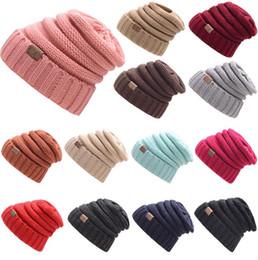 d095bdea58e nice women hats 2019 - 17 Colors Women Kitted Hat Autumn Winter Warm Beanie  Girls Pure