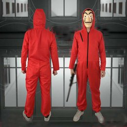 Discount kids mask making - Salvador Dali Movie Costume Money Heist The House of Paper La Casa De Papel Cosplay Halloween Party Costumes with Face M