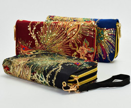 China Phoenix Embroidered Lady Clutch Wallet Long Card Holder Case Purse Handbag suppliers