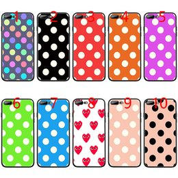 Designs For Iphone Cases Australia - Creative Design Polka Dot Soft Black TPU Phone Case for iPhone XS Max XR 6 6s 7 8 Plus 5 5s SE Cover