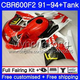 $enCountryForm.capitalKeyWord NZ - Body For HONDA CBR 600F2 FS CBR600RR CBR600 F2 91 92 93 94 1MY.15 CBR600FS CBR 600 F2 red white CBR600F2 1991 1992 1993 1994 Fairing kit